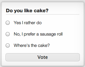 Screenshot of the poll system.