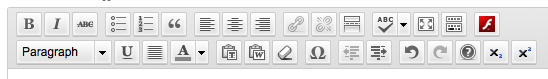 Screenshot of the visual editor toolbar